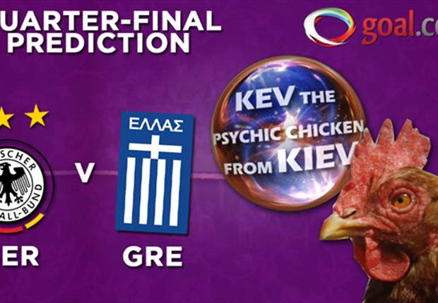 Kev the psychic chicken from Kiev predicts Euro 2012! Germany vs Greece