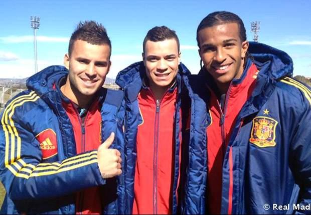 El Real Madrid Castilla golea a España Sub-20 en Las Rozas