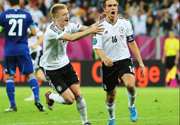 Germany 4-2 Greece: Record-breakers cruise into last four