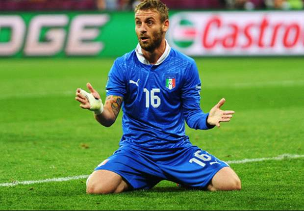 Nocerino ready to step in for De Rossi as Chiellini recovers from injury - report