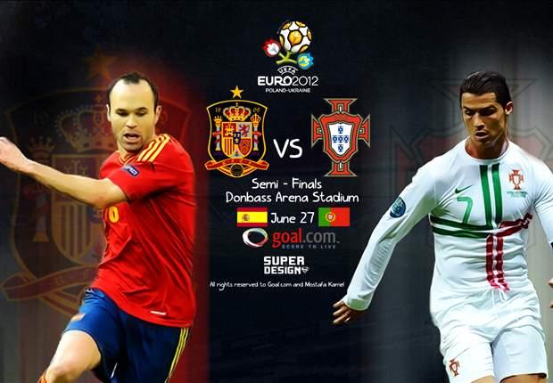 Aufstellung: Spanien mit Negredo im Sturm - Portugal mit Almeida im Angriff