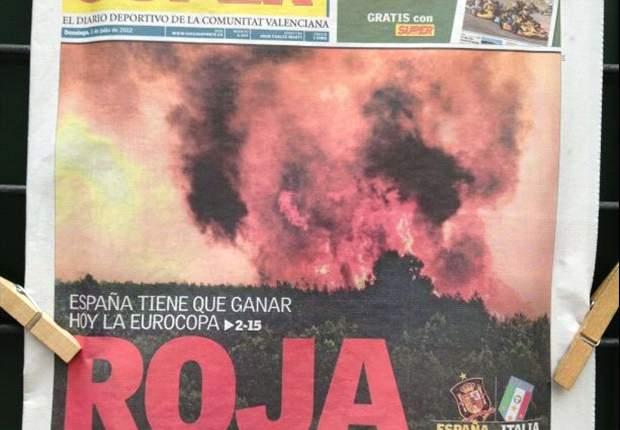 Superdeporte utiliza el drama de los incendios en Valencia para firmar la portada tonta del día