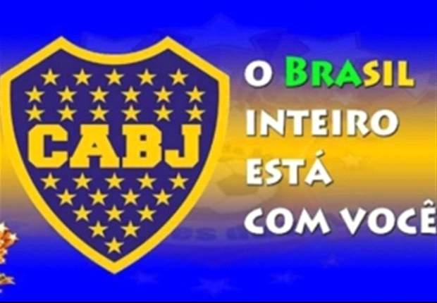 """Los brasileros """"anti - Corinthians"""" respaldan a Boca con afiches"""