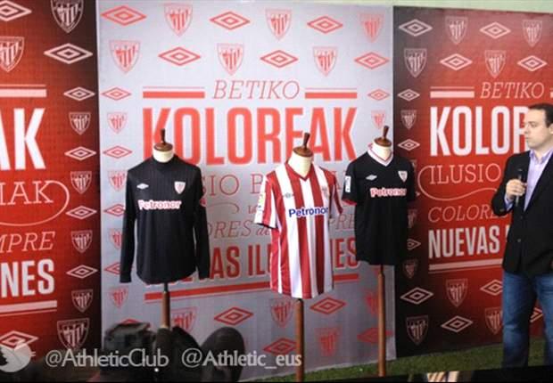 El Athletic Club de Bilbao presenta sus nuevas indumentarias para la temporada 2012-2013
