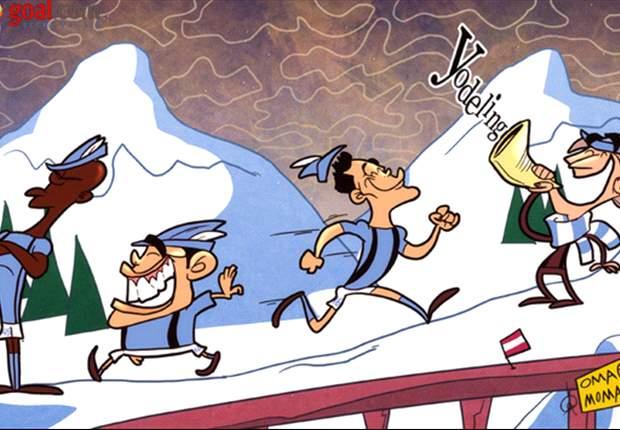 Cartoon - Man City doit gravir la montagne