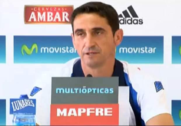 Manolo Jiménez: Me preocupa el estado del césped para el partido ante Valladolid