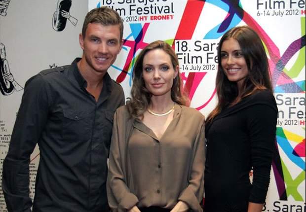 GAYA HIDUP: Edin Dzeko Bertemu Angelina Jolie