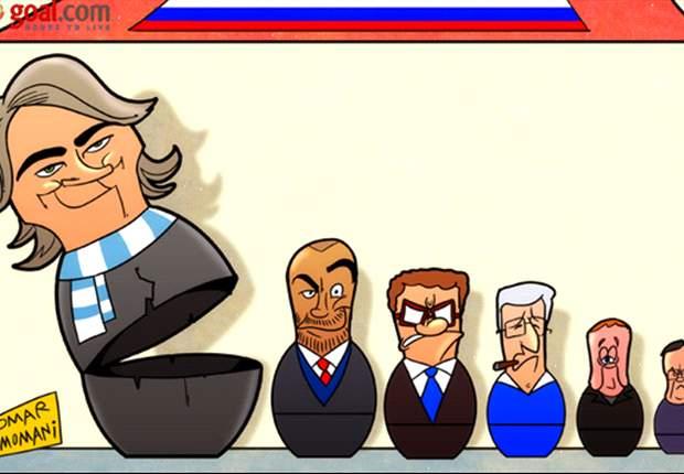 Cartoon - Les candidats se bousculent pour la Russie