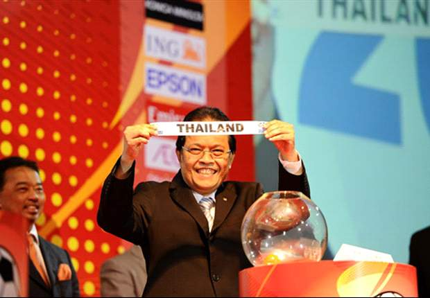 Singapore players on the 2012 AFF Suzuki Cup draw