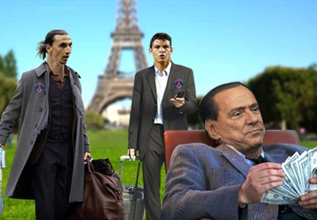 Zlatan Ibrahimovic y Thiago Silva conocen París mientras Silvio Berlusconi cuenta los millones