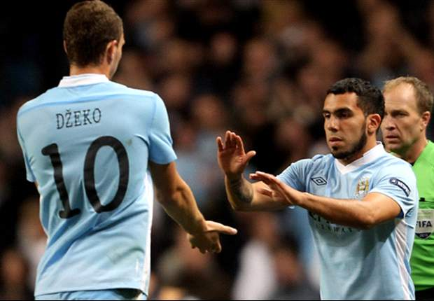 Enjoy them while you can: Carlos Tevez and Edin Dzeko
