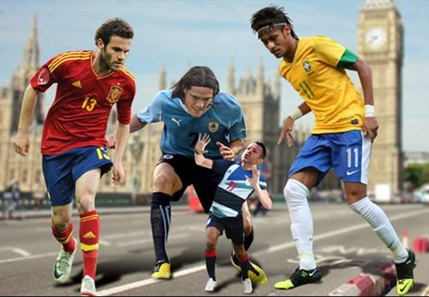 Neymar, Juan Mata y los gigantes que se preparan para Londres 2012