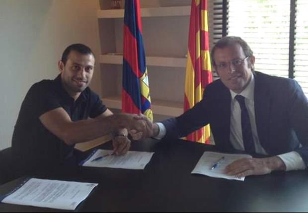 Bis 2016: Javier Mascherano unterschreibt Vertragsverlängerung bei Barcelona