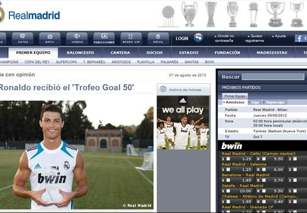 España y el mundo felicitan a Cristiano Ronaldo por su victoria en el Goal.com 50