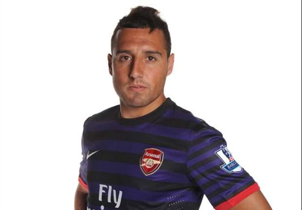 Santi Cazorla, titular en el Arsenal ante el Colonia; Robin Van Persie y Alex Song, suplentes