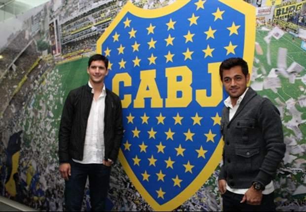 Boca presentó a Guillermo Burdisso y Lautaro Acosta