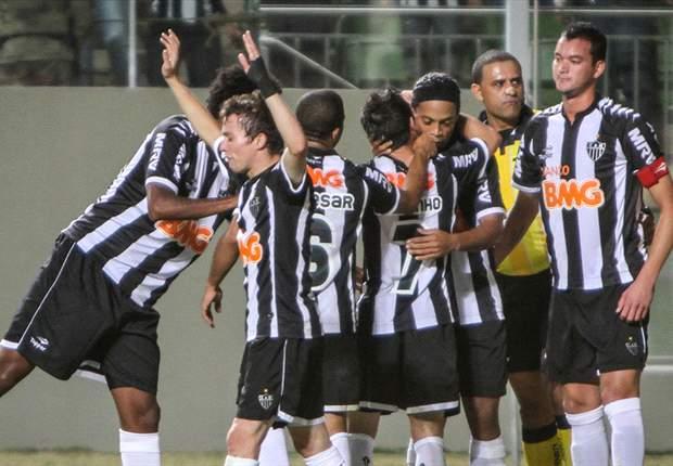Atlético-MG 6 x 0 Figueirense: Ronaldinho tem noite espetacular e ajuda o Galo a golear o vice-lanterna