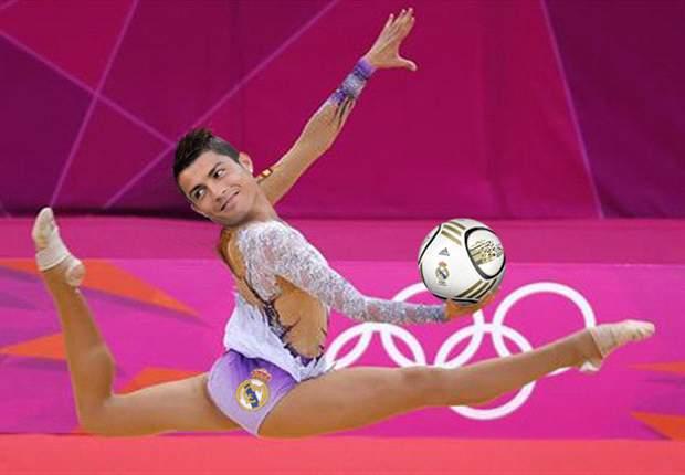 Cristiano Ronaldo aprovecha su flexibilidad para brillar en la gimnasia rítmica