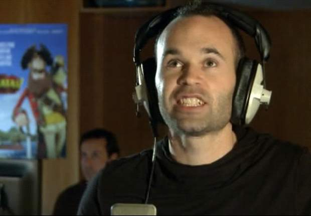 Barcelona's Iniesta provides voice for animated film Pirates