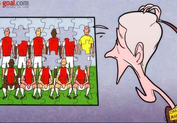 Wenger pierde la pieza clave cuando el rompecabezas del Arsenal parecía completo