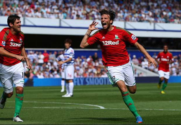 Michu delighted with 'dream' Swansea debut