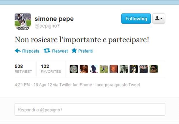 """La replica bianconera a Mazzarri arriva su Twitter. Pepe punge: """"Non rosicare, l'importante è partecipare"""". Poi il giallo sparizione e la spiegazione..."""