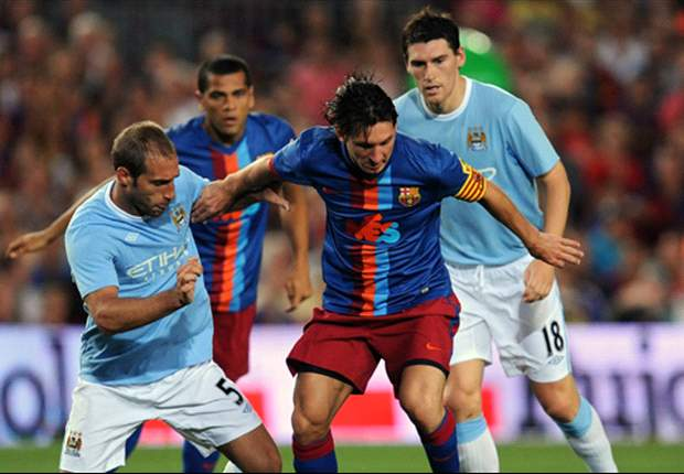 Zabaleta vs Messi, Copa Joan Gamper. Volverán a enfrentarse por Champions League.