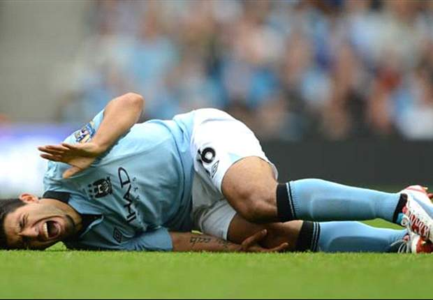 Manchester City striker Aguero set for MRI after being stretchered off against Southampton