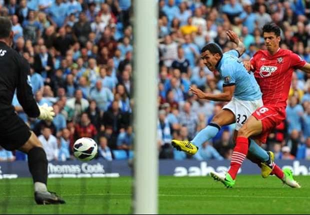 Manchester City 3-2 Southampton: Tévez, Dzeko y Nasri ponen cordura a la locura
