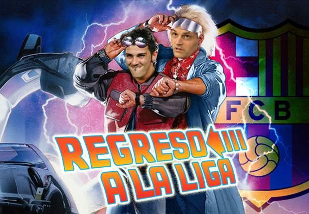 David Villa y Tito Vilanova emulan a Michael J. Fox y protagonizan 'Regreso a la Liga'