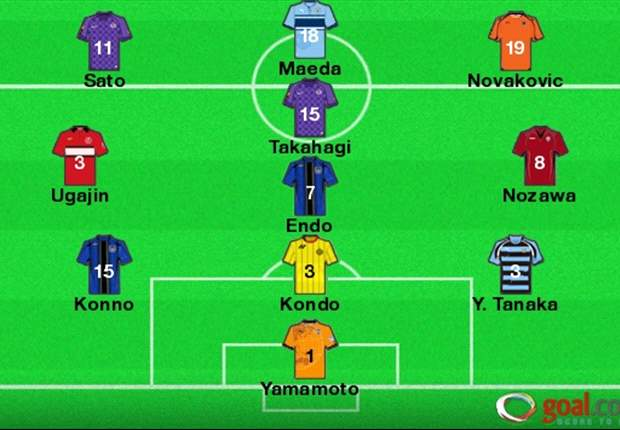 J-League Team of the Week Round 22: Gamba's Endo and Konno, Sanfrecce's Takahagi and Sato lead pack