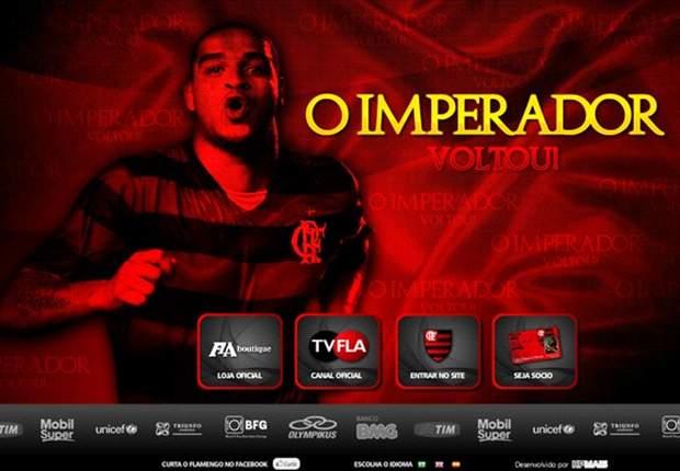 Adriano regresó al Flamengo