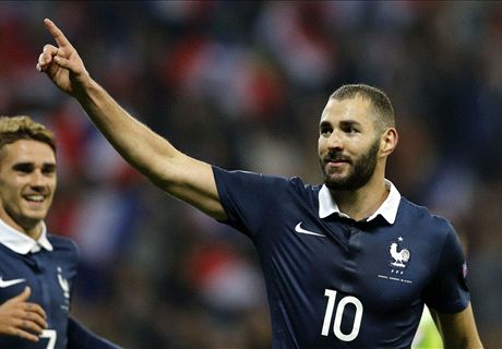 Benzema bags two in Armenia rout