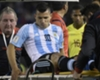 Aguero in tears after suffering hamstring injury on Argentina duty