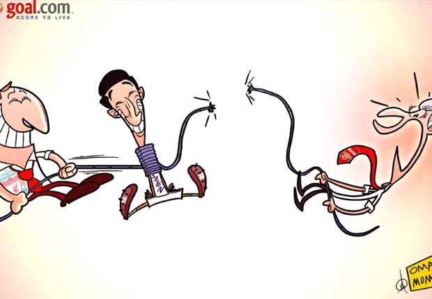 [만평] 리버풀, 사힌 줄다리기에서 승리