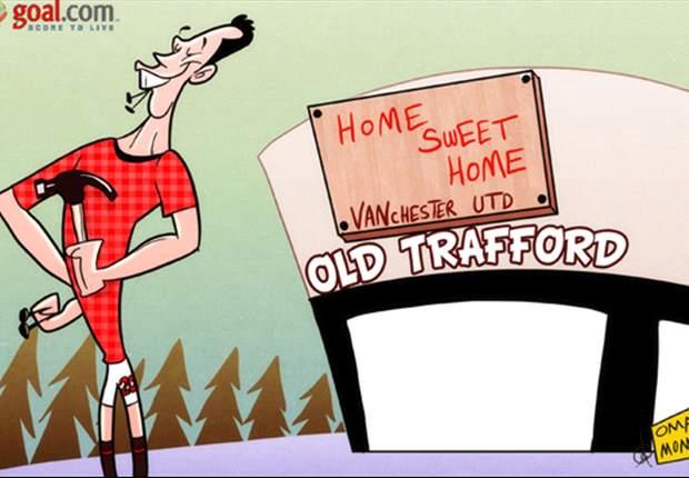 Robin Van Persie convierte Old Trafford en su casa