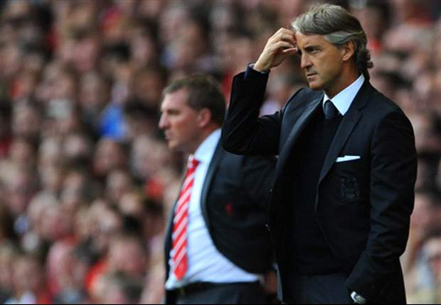 Mancini slams Manchester City defence after Anfield draw