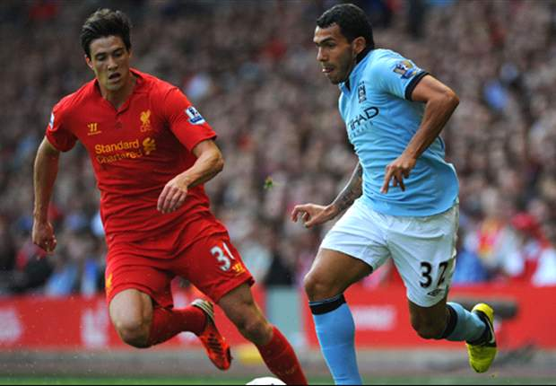 Liverpool 2-2 Manchester City: Skrtel error gifts Tevez to save point for champions