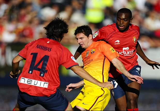 Osasuna 1-2 Barcelona: Messi double earns comeback victory