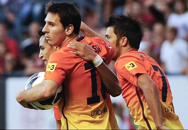 Messi le dice no a Sánchez, sí a Villa