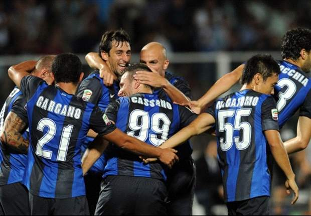 'It's easy to play with Sneijder and Milito' - Cassano buoyant after opening day win