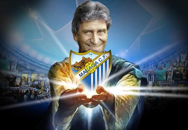Manuel Pellegrini mete al Málaga en la Champions League