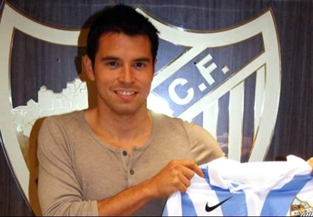 Javier Saviola firmó con el Málaga