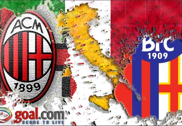 Bolonia 1-3 Milan: Giampaolo Pazzini brilla en el debut de Bojan Krkic