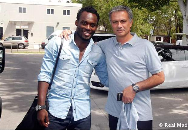Michael Essien and his 'daddy' Mourinho