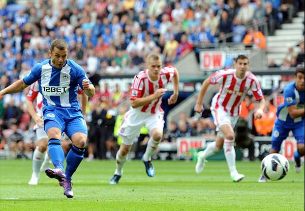 Wigan 2-2 Stoke City: Crouch rescues point for Pulis's side
