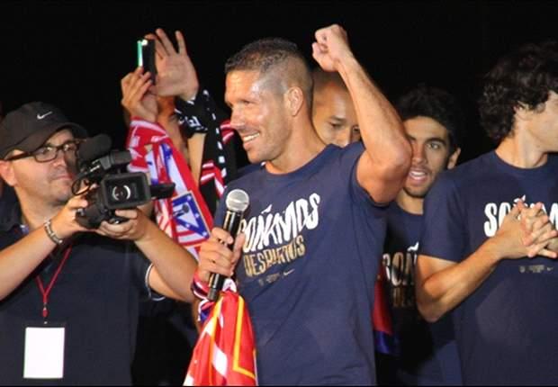 Diego Simeone celebra la Copa del Rey