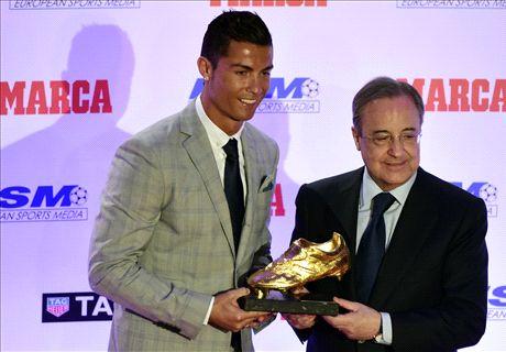 Ronaldo ontvangt vierde Gouden Schoen