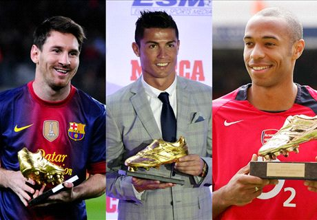 IN PICS: History's Golden Shoe winners