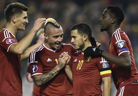 RATINGS: Hazard shines for Belgium